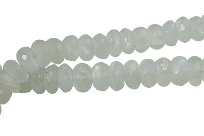 Design 13841: blue,white moonstone faceted beads