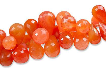 Design 13930: orange carnelian briolettes beads