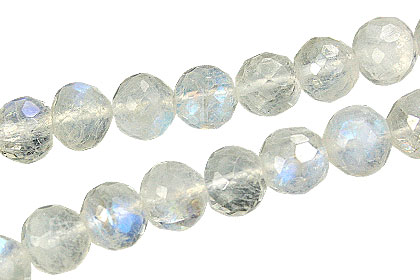 Design 15035: white moonstone faceted beads