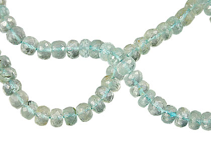 Design 15037: blue aquamarine faceted beads