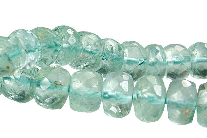 Design 15040: blue aquamarine faceted beads