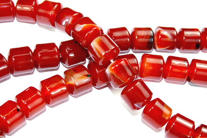 Design 16107: red bulk lots tube beads
