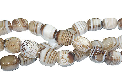 Design 16112: brown,white bulk lots square beads