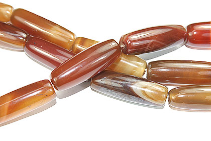Design 16113: brown agate rectangular beads