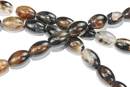 Design 16115: black,yellow bulk lots canoe beads