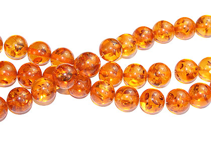 Design 16219: orange,yellow amber (synthetic) round beads