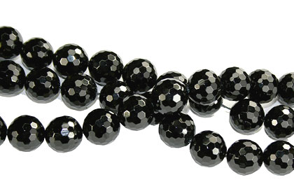 Design 16231: black bulk lots faceted beads