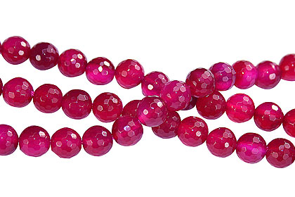 Design 16244: pink onyx faceted beads