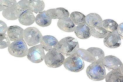 Design 18210: white moonstone beads
