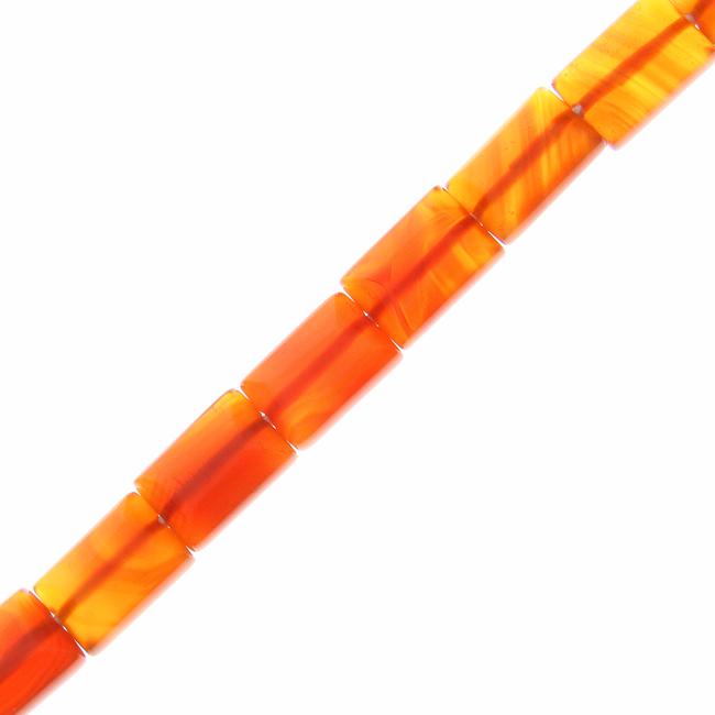 Design 20993: orange carnelian beads