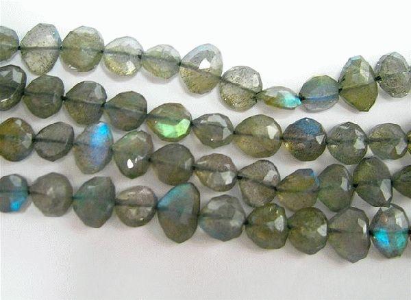 Design 3070: green,blue,grey labradorite beads