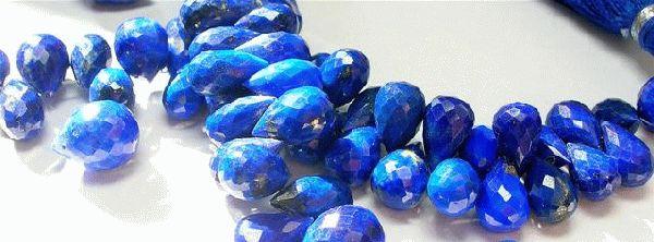 Design 3086: blue lapis lazuli briolettes beads