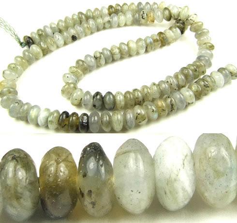 Design 5642: gray labradorite beads