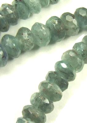 Design 5670: Light Gray labradorite faceted beads