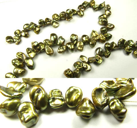 Design 5742: Green pearl beads
