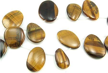 Design 5788: brown tiger eye tear-drop beads