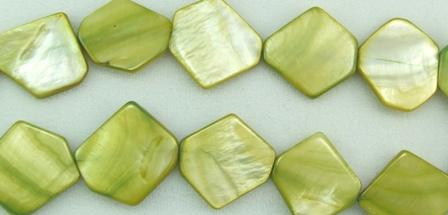 Design 5813: Green shell beads