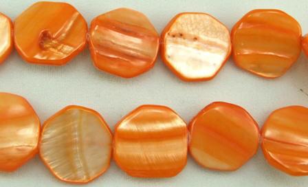 Design 5815: Orange shell beads