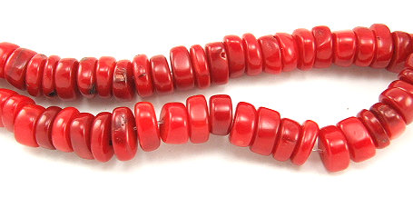 Design 5844: Red coral beads