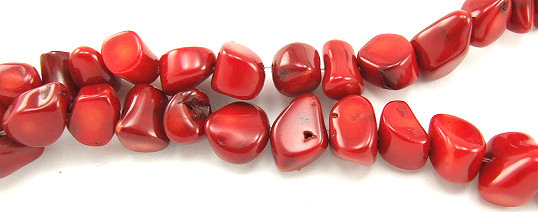 Design 5846: Red coral beads