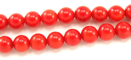Design 5850: Red coral beads