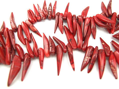 Design 5853: Red coral beads