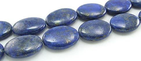 Design 5958: Blue lapis lazuli oval beads