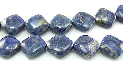 Design 5960: blue lapis lazuli square beads