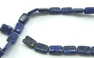 Design 5964: Blue lapis lazuli square beads