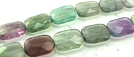 Design 5986: Green, Purple, Gray fluorite faceted beads