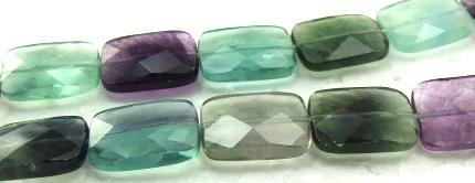 Design 5987: Green, Purple, Gray fluorite faceted beads