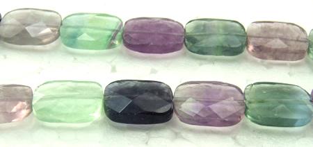 Design 5988: Green, Purple, Gray fluorite faceted beads