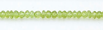 Design 6108: green peridot faceted, rondelle beads