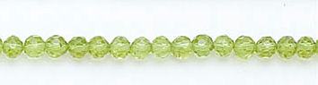 Design 6109: green peridot faceted beads