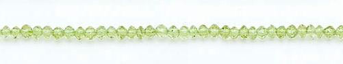 Design 6110: green peridot faceted, rondelle beads
