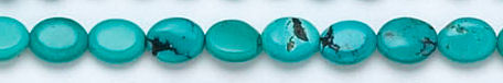 Design 6150: blue, green, brown turquoise oval beads