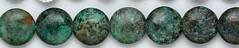 Design 6159: blue, green, brown turquoise coin beads