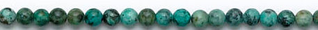 Design 6173: blue,brown,green turquoise round beads