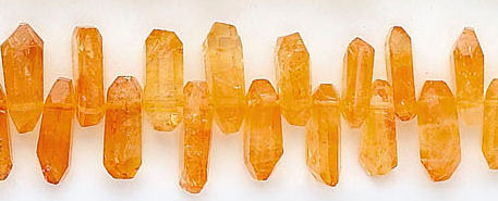 Design 6185: yellow citrine faceted beads