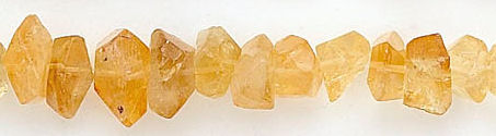 Design 6186: yellow citrine nuggets beads