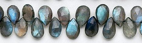 Design 6514: gray labradorite beads