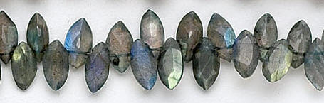 Design 6516: gray, multi labradorite faceted beads