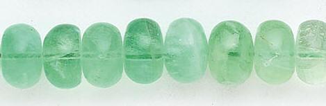 Design 6542: green fluorite beads