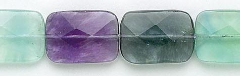 Design 6543: green, multi fluorite faceted beads