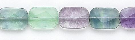 Design 6544: green, multi fluorite faceted beads