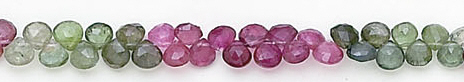 Design 6558: multi-color tourmaline briolettes beads