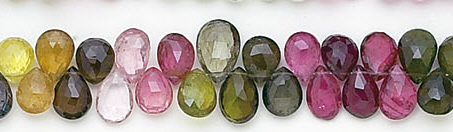 Design 6559: multi-color tourmaline briolettes beads