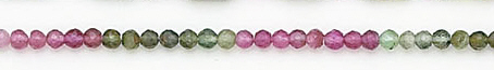 Design 6561: multi tourmaline faceted, round beads
