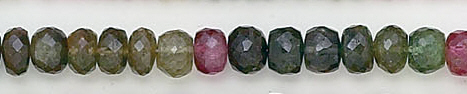 Design 6568: multi tourmaline faceted beads
