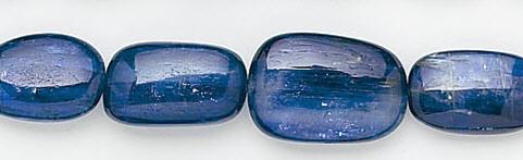 Design 6572: blue kyanite oval beads